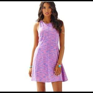 LILY PULITZER Flamingo Pink/Blue Skater Dress